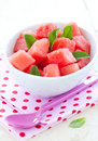 Watermelon salad Stock Photos