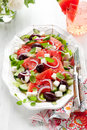 Watermelon Salad Stock Photography