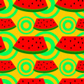 Watermelon seamless background design a for graphic element use Royalty Free Stock Photo