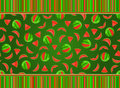 Watermelon seamless pattern Royalty Free Stock Photos