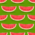 Watermelon seamless pattern vector eps illustration Royalty Free Stock Images