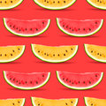 Watermelon seamless pattern vector eps illustration Royalty Free Stock Image