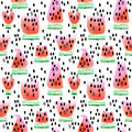 Watermelon. Seamless Pattern W...