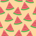 Watermelon slice seamless pattern. Repeated vector texture background Royalty Free Stock Photo