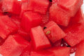 Watermelon sliced into the cubes Royalty Free Stock Photo