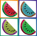 Watermelon slices Royalty Free Stock Photography