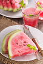 Watermelon slices on a plate Royalty Free Stock Photo