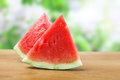Watermelon slices on a table Royalty Free Stock Images