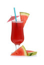 Watermelon smoothie with slices of fruit