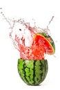 Watermelon with splash Royalty Free Stock Photo