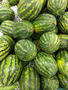 Watermelon a watermelons sale on supermarket Royalty Free Stock Photos