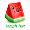 Watermelon on white text fresh slice of background vector illustration Royalty Free Stock Images