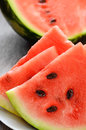 Watermelon on the wooden table Stock Photography