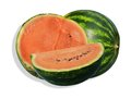 Watermelons on white background Royalty Free Stock Photo