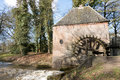 Watermill at Hackfort castle. Royalty Free Stock Photo
