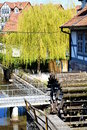 Watermill in historic german city Stock Photography