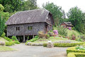 Watermill and house at the German Museum at Frutillar, Chile Royalty Free Stock Photo