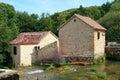 Watermill at krka waterfalls river of waterfall in croatia Stock Photo