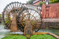 Watermill in lijiang yunnan china it is the old town signs Stock Image