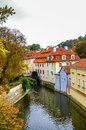 Watermill in prague watermil on the river chertovka chech republic Royalty Free Stock Image