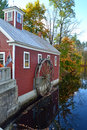 The watermill a reflecting in water Royalty Free Stock Photography