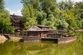 Watermill on small danube near the village kolarovo slovakia europe Stock Photo