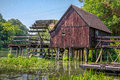Watermill on small danube near the village tomasikovo slovakia europe Royalty Free Stock Photos