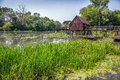 Watermill on small danube near the village tomasikovo slovakia europe Royalty Free Stock Photos