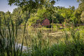 Watermill on small danube near the village tomasikovo slovakia europe Stock Images