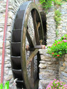 Watermill wheel water generator source Royalty Free Stock Photos