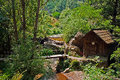Watermills the of valea rudariei district caras severin romania are a testimony of the traditional tehnology in banat a number of Stock Photography