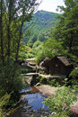 Watermills the of valea rudariei district caras severin romania are a testimony of the traditional tehnology in banat a number of Stock Image