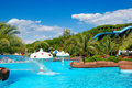 Waterpark at the luxury hotel Royalty Free Stock Image