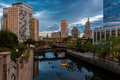Waterplace Park in Providence Royalty Free Stock Photo