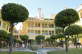 Waterplein in sotogrande Royalty-vrije Stock Afbeeldingen