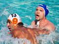 Waterpolo fight Royalty Free Stock Photo