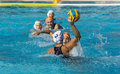 WATERPOLO MATCH - MATARO vs ZARAGOZA Royalty Free Stock Photo
