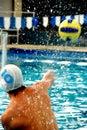 Waterpolo sportman Royalty Free Stock Photo