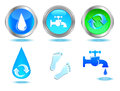 Waters icons set. Royalty Free Stock Image