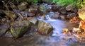 Waterscape beautiful virgin mountain river Stock Photos