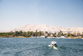Waterscape at nile near luxor in egypt Stock Photo