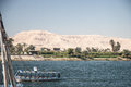 Waterscape przy nil blisko luxor Fotografia Royalty Free