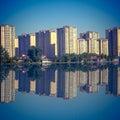 Waterside city house in beijing Stock Image