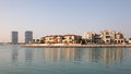 Waterside villas in Doha, Qatar Stock Photo