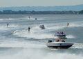 Waterski Racing Royalty Free Stock Photo