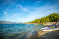 Watersport equipment on beach calm and in croatia Royalty Free Stock Photography