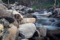 The waterstream in autumn in far east Stock Images