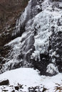 Waterval in de winter Stock Foto