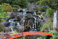 Waterwheel in autumn in japan Royalty Free Stock Photography