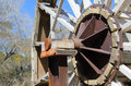 Waterwheel ii on the river jucar detail shaft Royalty Free Stock Photos